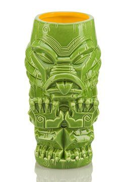 "Classic Monsters Tiki Glasses: Each ceramic Monsters Geeki Tikis® stand approximately 7"" tall, is top-shelf dishwasher safe, microwaveable and boast a capacity of up to 20 ounces. Collect Frankenstein, Frankenstein's Bride, Dracula, Gill-Man, Tiki Tut and Wolfie. 