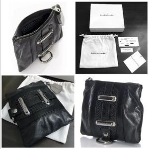 I just discovered this while shopping on Poshmark: New Balenciaga Wallet -Coin Pouch -Bag Attachment. Check it out! Price: $269 Size: One Size