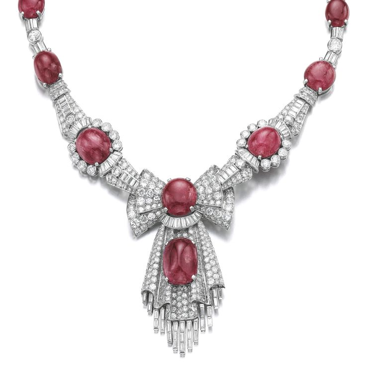 PROPERTY OF A EUROPEAN NOBLE FAMILY: Ruby and diam…