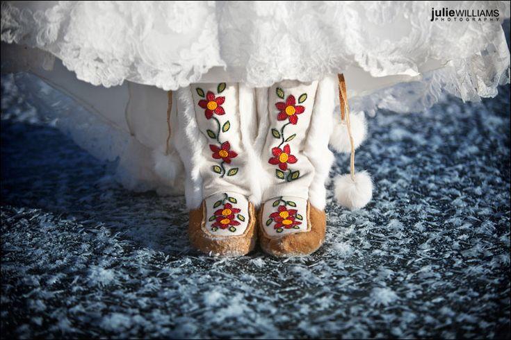 Winter wedding mukluks...