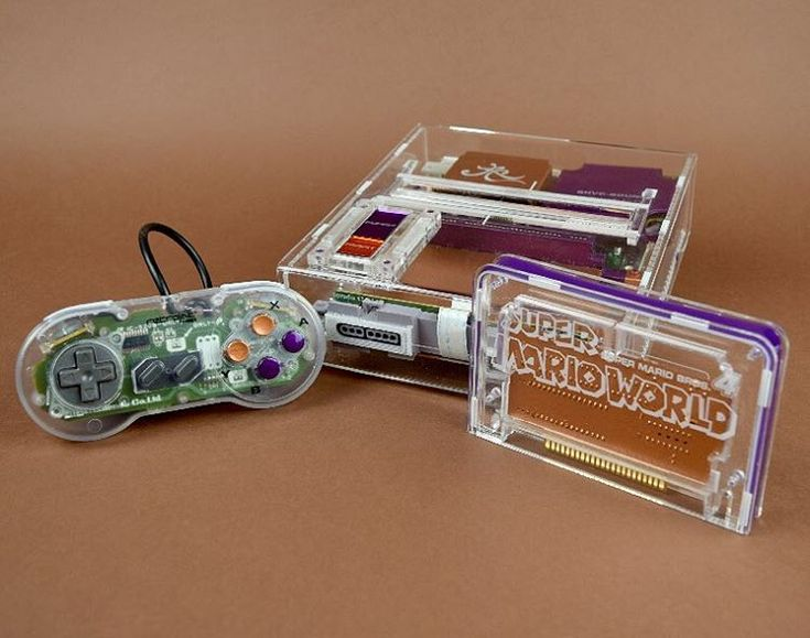 Transparent refurbished Super Nintendo consoles / Boing Boing