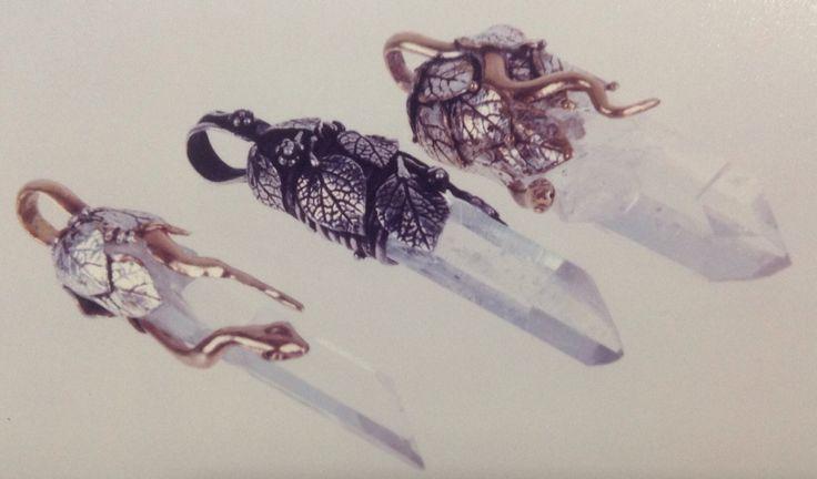 Quartz,gold and silver by sandra granger spiak