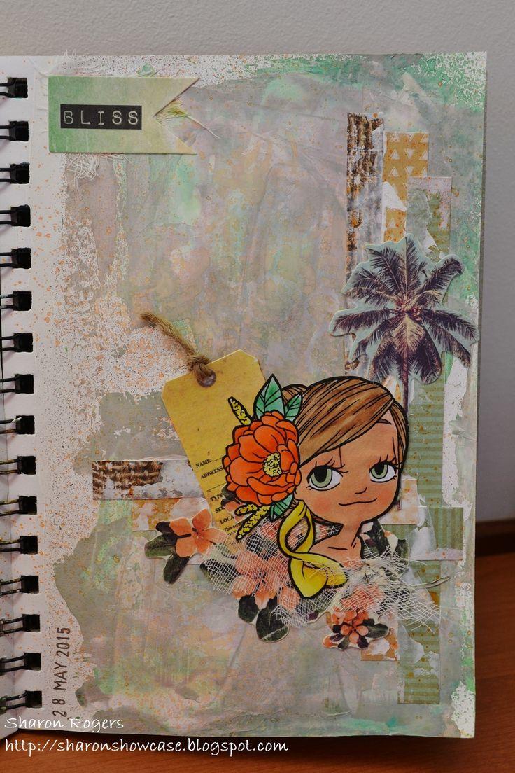Journalling, Mixed Media, Journal, Summer, Collage, Some Odd Girl, http://sharonshowcase.blogpsot.com