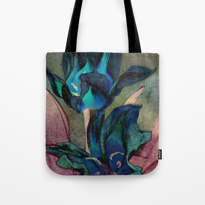 Buy Vintage tulips(sapphire) Tote Bag by maryberg. Worldwide shipping available at Society6.com. Just one of millions of high quality products available.