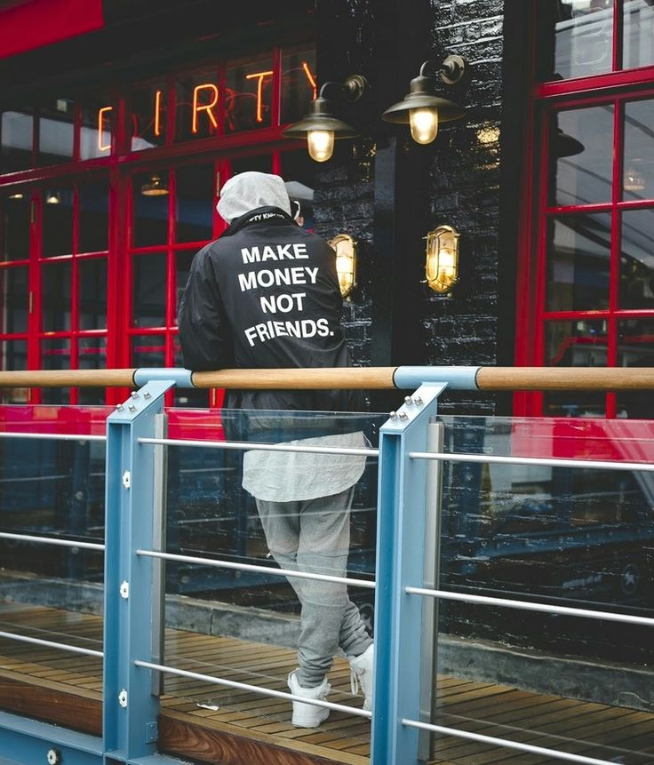 "Fifty Carats' ""Make Money Not Friends"" Black Jacket"