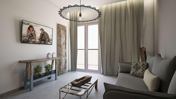 Nisos Junior Suite - Living Room, Elakati Luxury Boutique Hotel, Rhodes , Greece