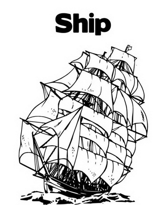 columbus three ships coloring pages - photo#14