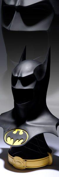 ✯ Bat-Cowl Life-Size Prop Replica - 'Batman Returns' from the Tim Burton Film ✯