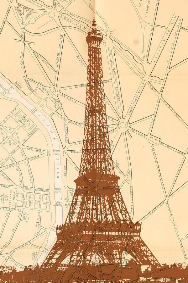Paris Vintage Eiffel Tower Free Printable