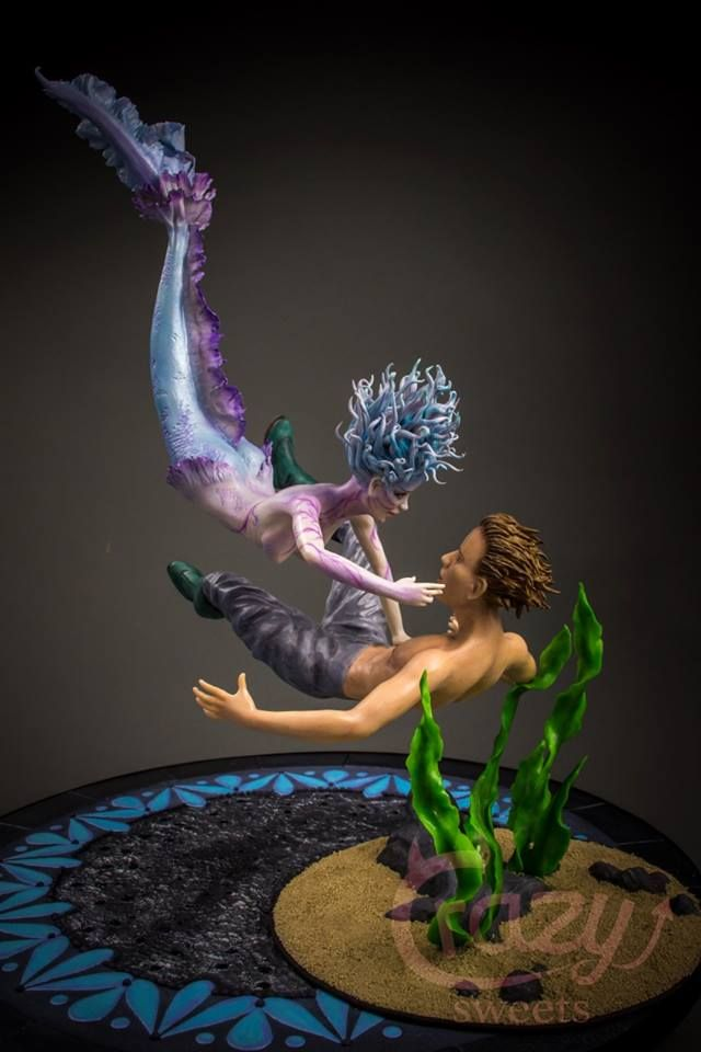Mermaid Topper made in modelling Chocolate | Cakes by ...
