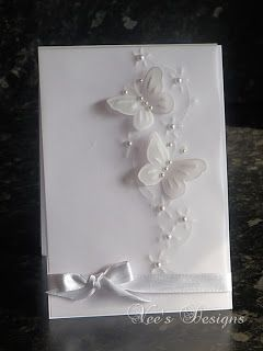 Bodhicea's Designs: White Vellum Butterfly Card