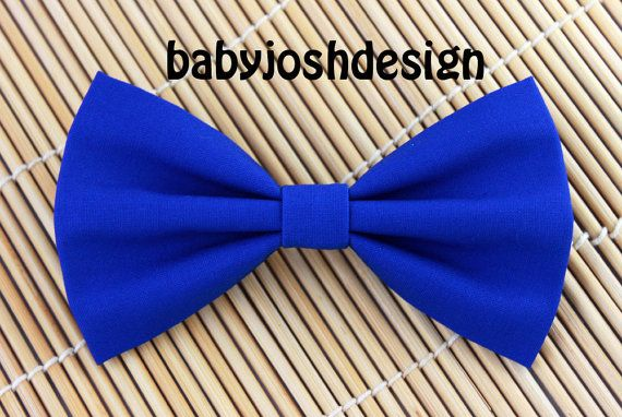 Royal Blue Fabric Hair bow for teens or by babyjoshdesign on Etsy