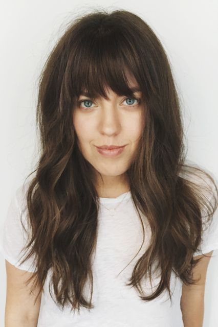 "This L.A. Hair Trend Is Huge — & It's SO Easy To Copy At Home #refinery29 http://www.refinery29.com/2016/10/127226/how-to-style-fake-bangs-hair-trend-tutorial#slide-12 Step 8: Prepare To Fool EveryoneAnd that's it — you've got fake bangs that look lifelike and will stay in place all day and night — literally. ""You can wear this for a whole weekend because this tape isn't going anywhere,"" Ess says. ""If I apply them on Lucy or Jenna they can wear them for a few days."" When it's time to remove…"