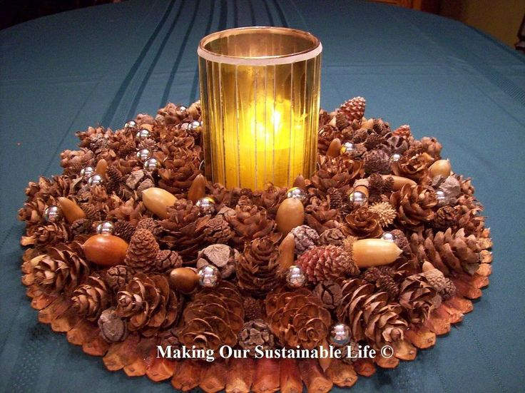 This beautiful centerpiece can be jazzed up with different colored ornaments for Christmas, or given a Thanksgiving theme with nuts and small berries! Take a tr…