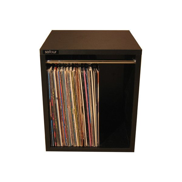 vinyl records storage box ❤ liked on Polyvore featuring home, home decor, small item storage, fillers, music, furniture, decoration, vinyl record storage box and music home decor