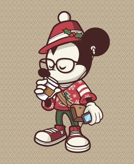 Holiday Mickey - Hipster Mickey