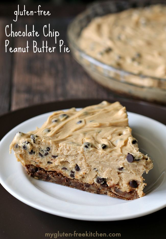 Gluten-free Chocolate Chip Peanut Butter Pie