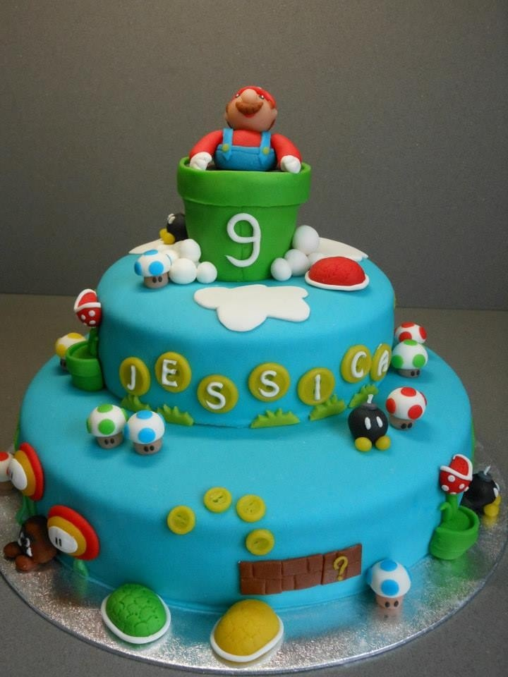 super mario birthday cake cakes pinterest. Black Bedroom Furniture Sets. Home Design Ideas
