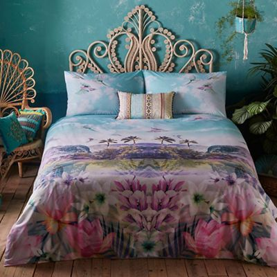 Butterfly Home by Matthew Williamson Multi-coloured tropical print 'Cuba' bedding set | Debenhams