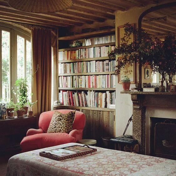 Best 10 library fireplace ideas on pinterest grey for Bedroom ideas for book lovers