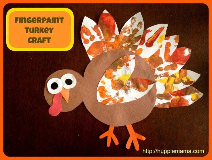 Fingerpaint Turkey Thanksgiving Craft for Kids