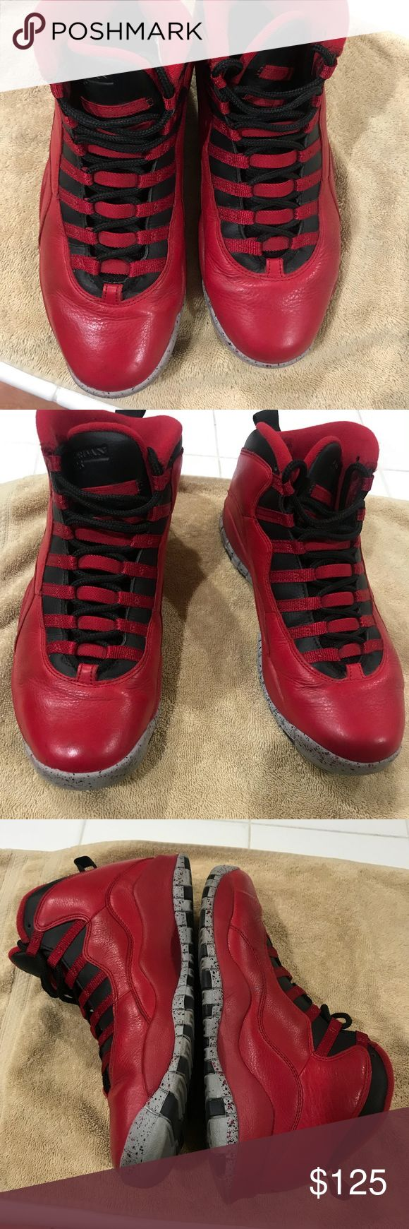 Bulls over Broadway Jordan's Men's. Size 10. Bulls Over Broadway.  Air Jordan 10 retro. Pre owned.  No box. Nike Shoes Athletic Shoes