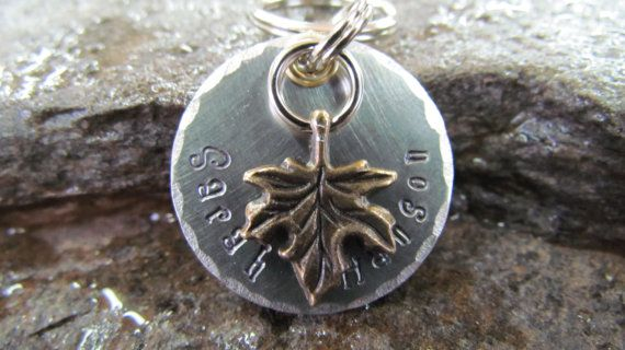 Pet Tags - Pet ID Tag - Dog Collar Tag with Leaf, Flower or Tree of Life Charm, Personalized. $8.50, via Etsy.