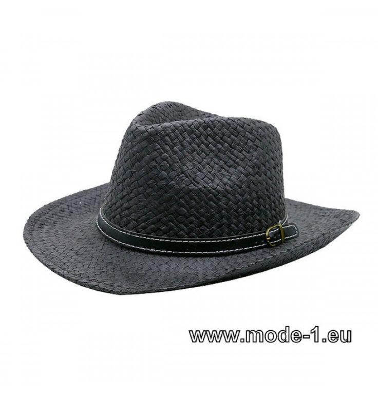 Herren Stroh Hut in Schwarz
