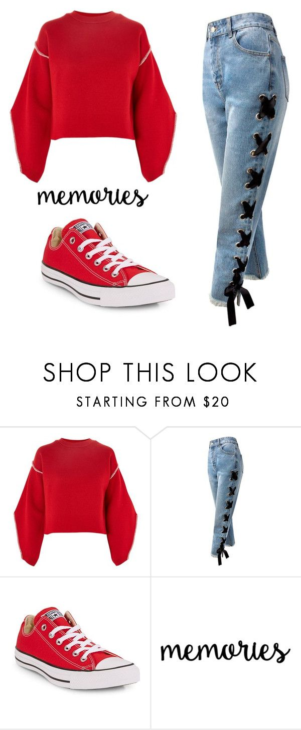 """Untitled #511"" by mihaelamarula on Polyvore featuring Topshop, Sans Souci and Converse"