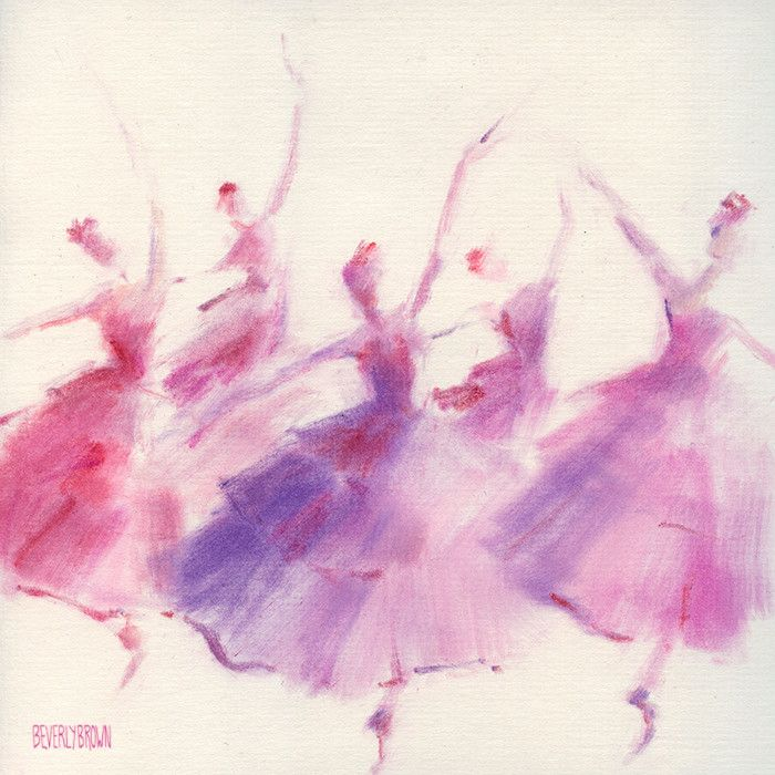 Waltz of the Flowers Nutcracker ballet sketch art by Beverly Brown | www.beverlybrown.com