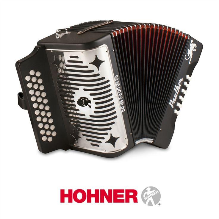 Hohner Panther GCF Diatonic Accordion - Black
