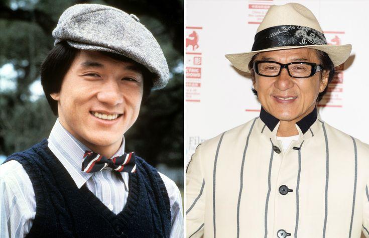 Les stars hier et aujourd'hui Jackie Chan 1975 et 2014