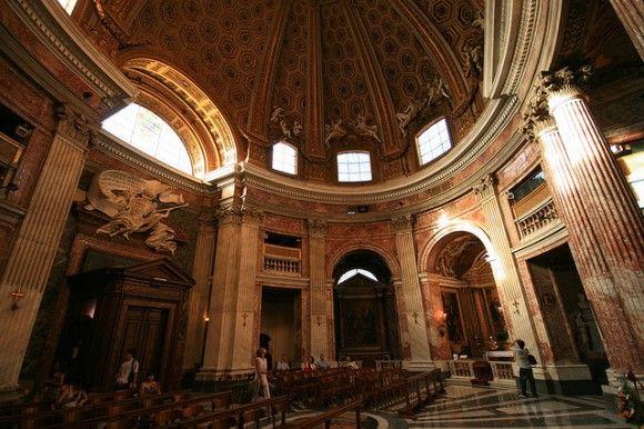 image of the s. andrea al quirinale interior | Sant'Andrea Interior – photo flickr @wsifrancis