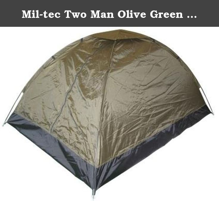 Mil-tec Two Man Olive Green Igloo Tent - Superior. Superior quality single layer, lightweight, water proof two-man tent in Olive Green camouflage, suitable for most weather conditions including heavy rain. These durable weather proof tents are ideal for weekend and extended outdoor events: 190T Polyester - 1500mm Waterproof Sewn-in ground sheet - Oxford Polyester - 5000mm Waterproof 2 fiberglass tent poles 8 aluminium pegs 4 detachable guy ropes Mesh/mosquito net inner door Mesh/mosquito…