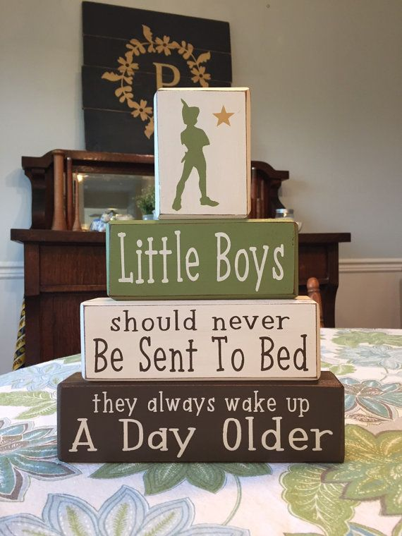 peter pan nursery little boys quote peter pan wood blocks