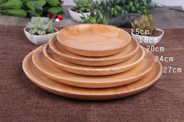 Source Different Size Round Wood Plate Bamboo Food Serving Dinner Plate Round Bamboo Dinner Plate On M Alibaba Com Serving Food Dinner Plates Plates