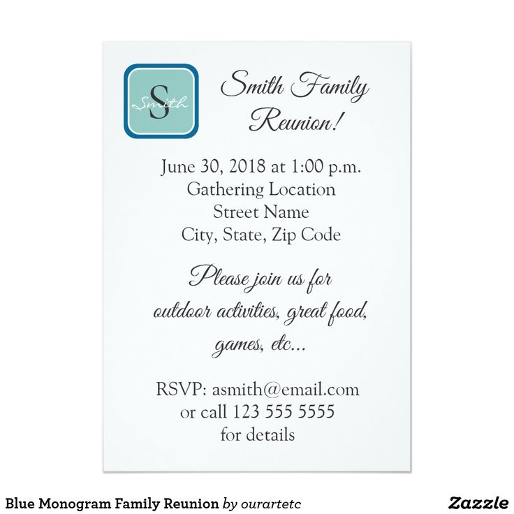 37 best Family Reunion Invitations images on Pinterest