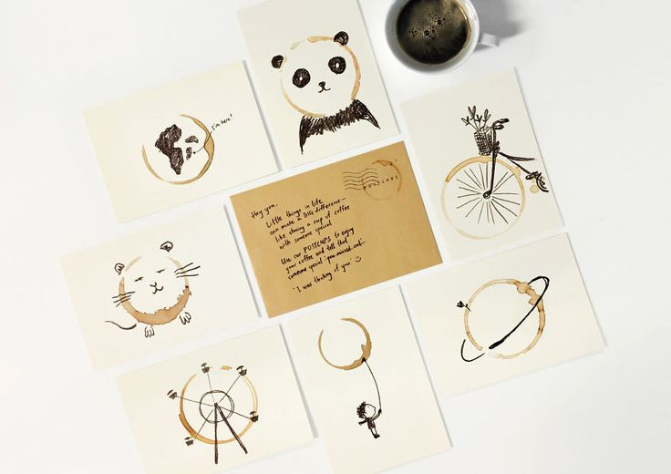 Postcards That Are Only Complete After You Stain It With Coffee | Bored Panda