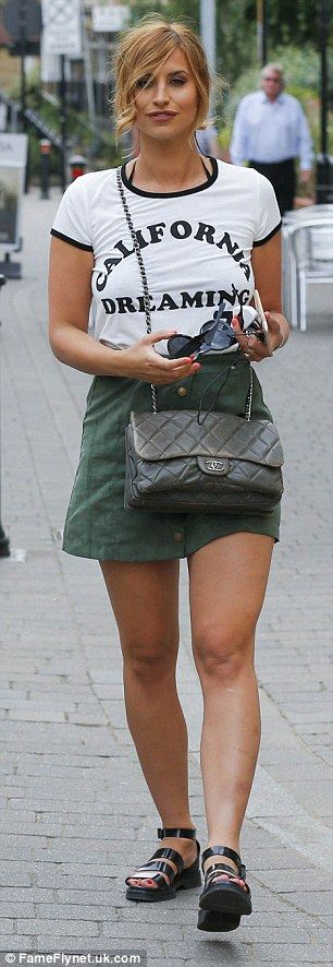 Putting on a leggy display: Ferne McCann (left) and Chloe Sims (right) joined forces to en...