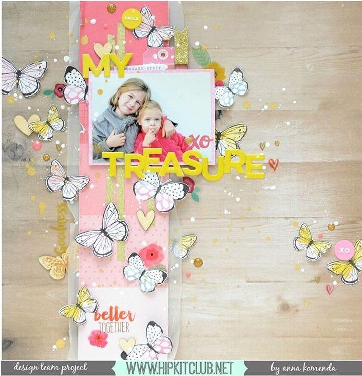 Look at this beauty created by designer @moriony Created with #april2016 kits :: @cratepaper @maggiehdesign @americancrafts @amytangerine @heidiswapp @pinkfreshstudio @simplestories_ #hipkits #hipkitclub #april2016 #papercrafting #scrapbooking