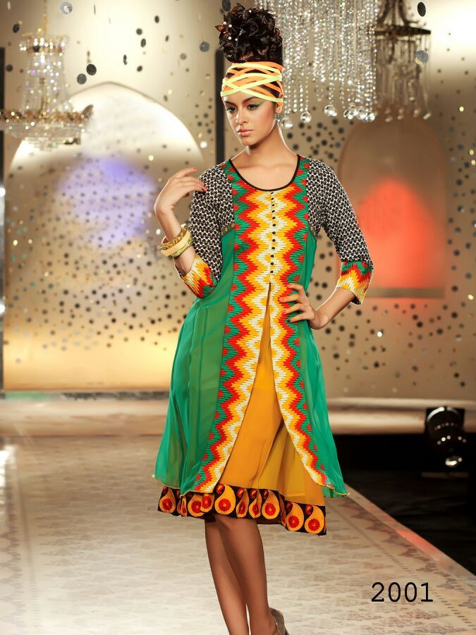 Cotton Designer Kurti with Embroidery Work