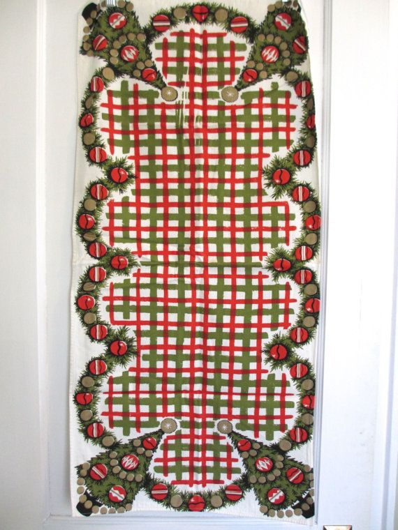 Vtg midcentury table runner / by fuzzandfu on Etsy