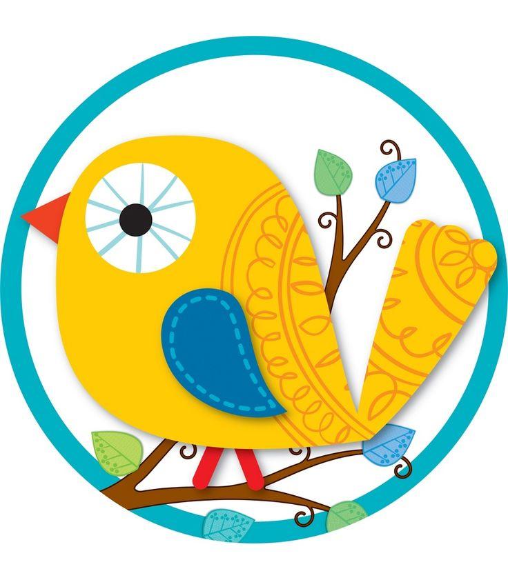 CDWish13 Boho Birds Two Sided Decoration From Carson Dellosa