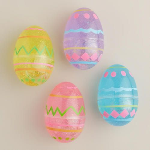 One of my favorite discoveries at WorldMarket.com: Easter Egg Glitter Putty, Set of 4