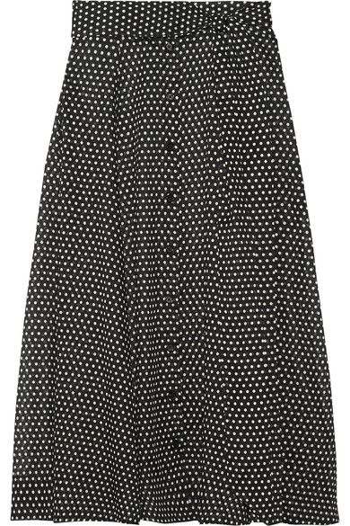 Lisa Marie Fernandez - Polka-dot Cotton Maxi Skirt - Black - 3