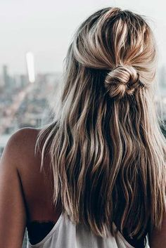 Easy Half-Up #easyhairstyles Hairstyles for medium length hair are the stylish comprise between short and long styles! And our ideas are really worth