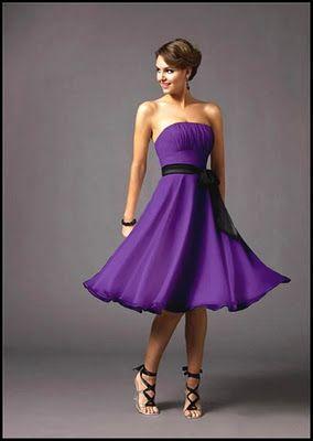 Wedding Dress: Purple and Black Wedding Dress Designs Ideas Bridesmaid