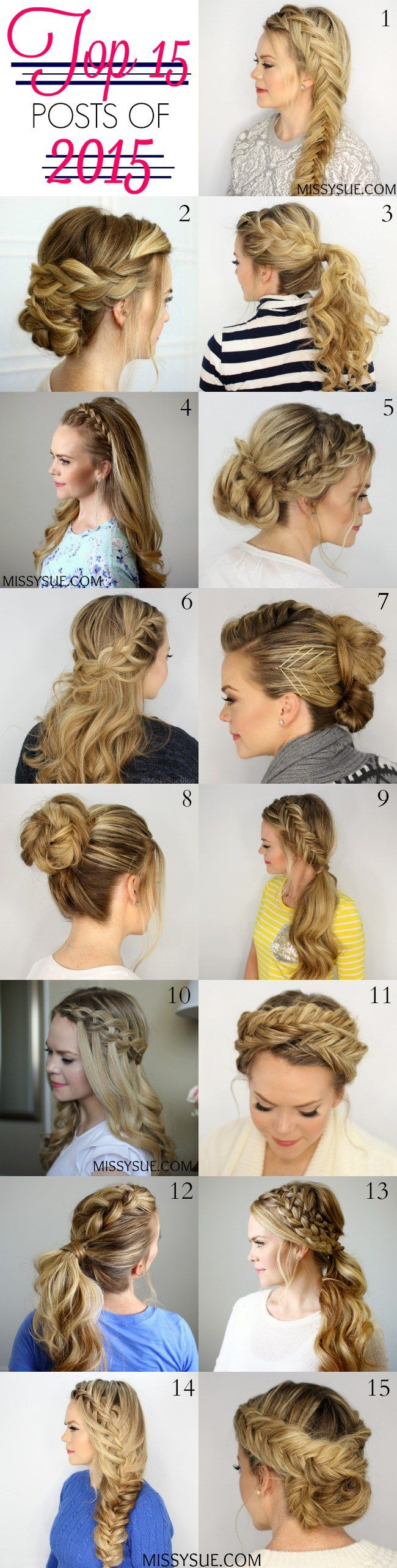It's a new year which means a new of fun hairstyles, tutorials, and more! I wanted to quickly share the top 15 posts from this past year and tell you how much I loved loved seeing which hairstyleswere your favorite. It has been so much fun branching out and stretching my hair skills this past year withsuch a wide assortment of hairstyles and braiding techniques. I am so excited to see what the new year has in store and I am already planning some other great tutorials. Be sure to stay…