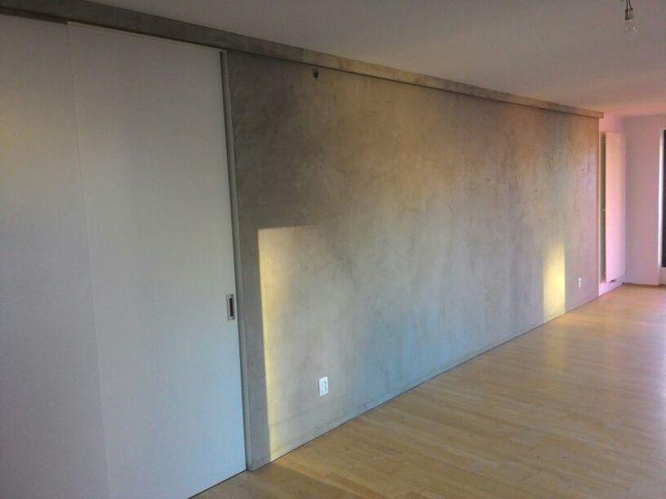 Facebeton, pohledova betonova sterka v obyvaku