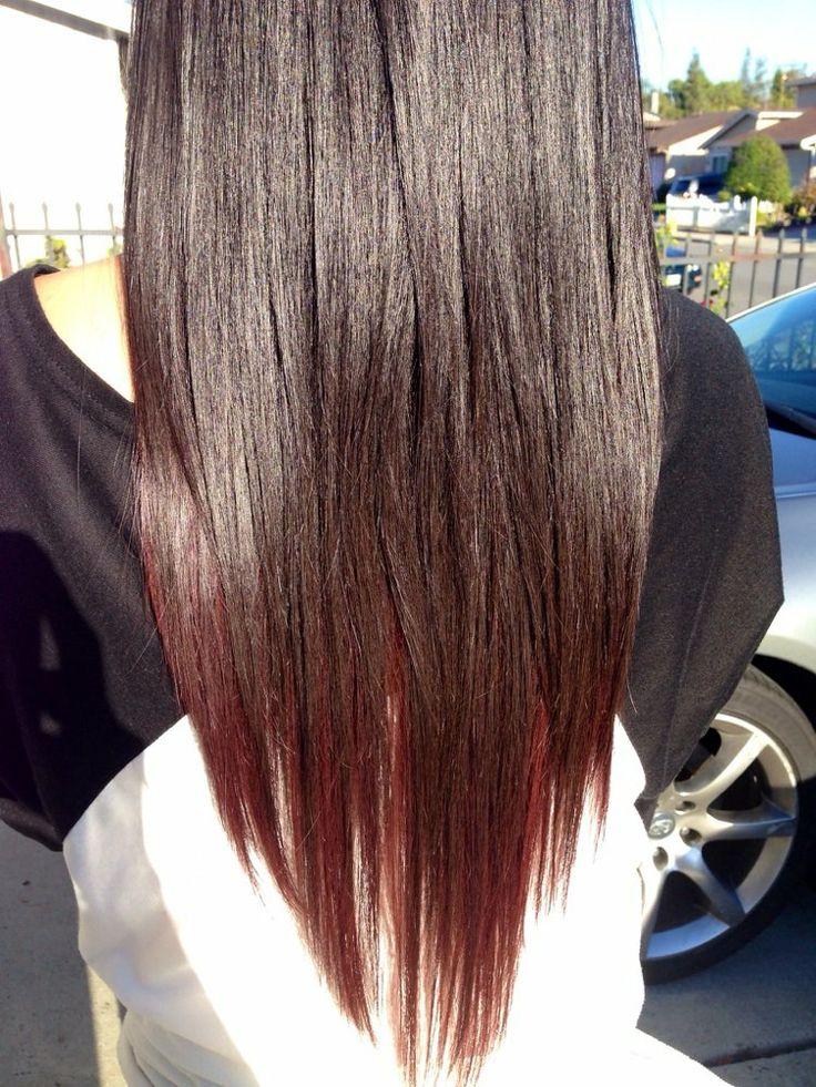 Burgundy red underneath | Hair | Pinterest